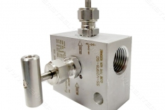 منیفولد دو شیره ,2valve manifold  , مرکز استیل 110 , center steel 110 , instrument tube fiitings and valve , s-lok korea